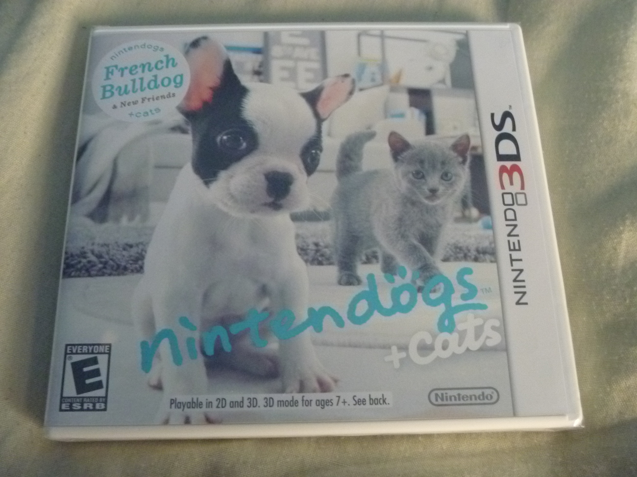 how to start a new game on nintendogs 3ds
