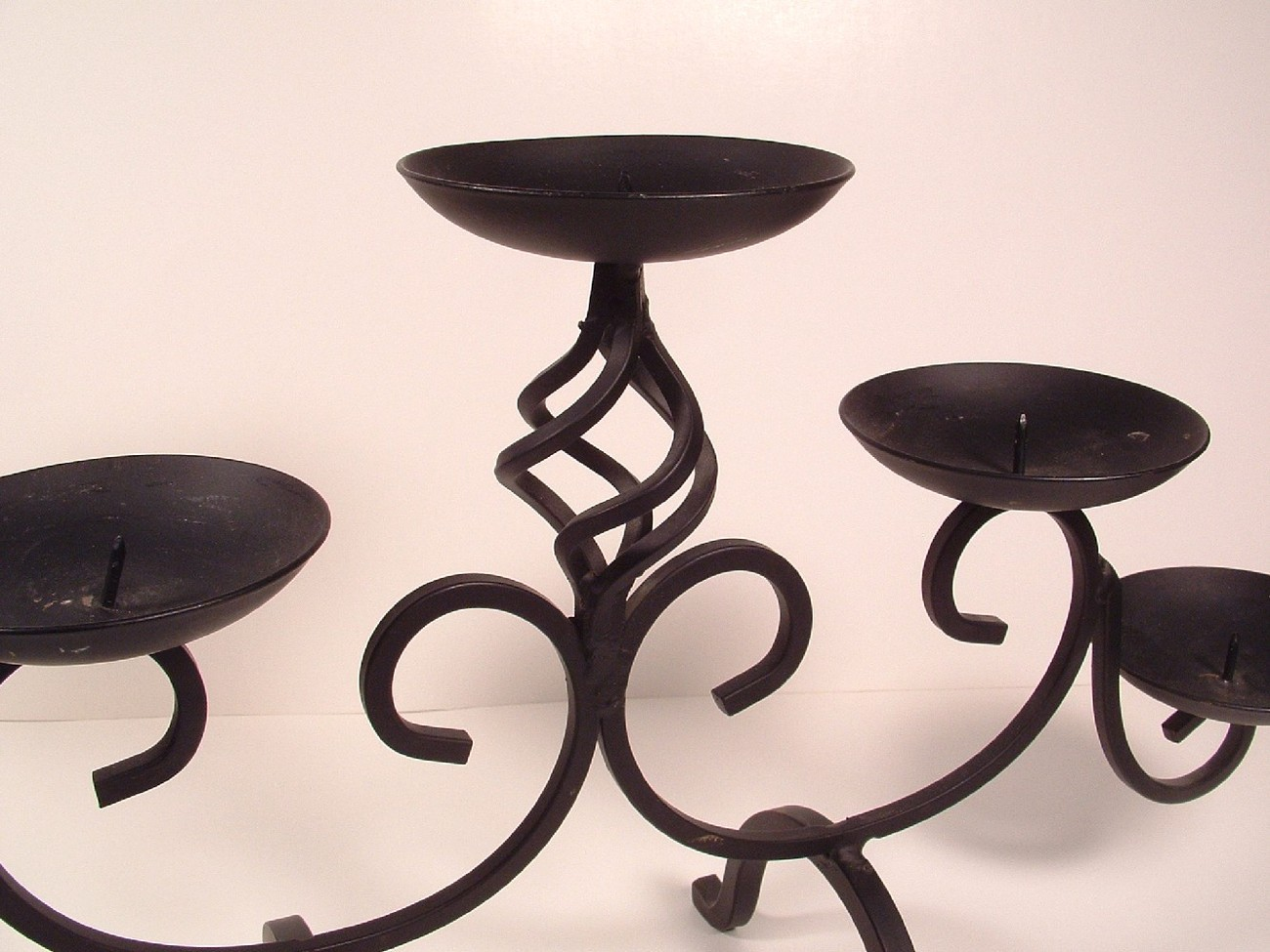 Metal Pillar Candle Holders : Tier wrought iron light pillar candle holder