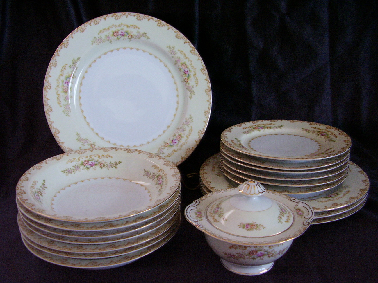 Vintage Jyoto China Made In Occupied Japan Lot Floral Gold