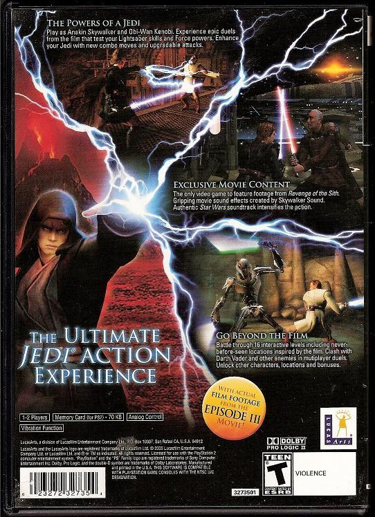 Image 1 of Star Wars Episode III Revenge of the Sith PS2 video game