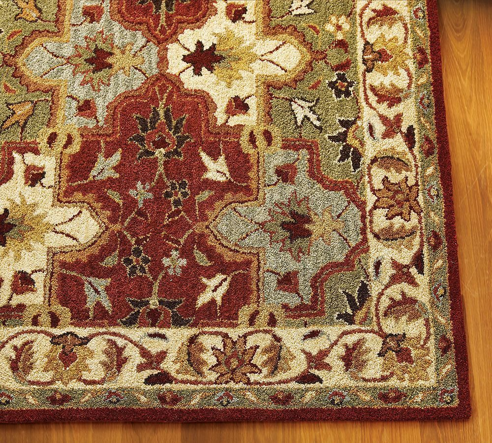 Pottery Barn Persian Rug: New Pottery Barn Handmade Persian CECILIA Area Rug 5X8