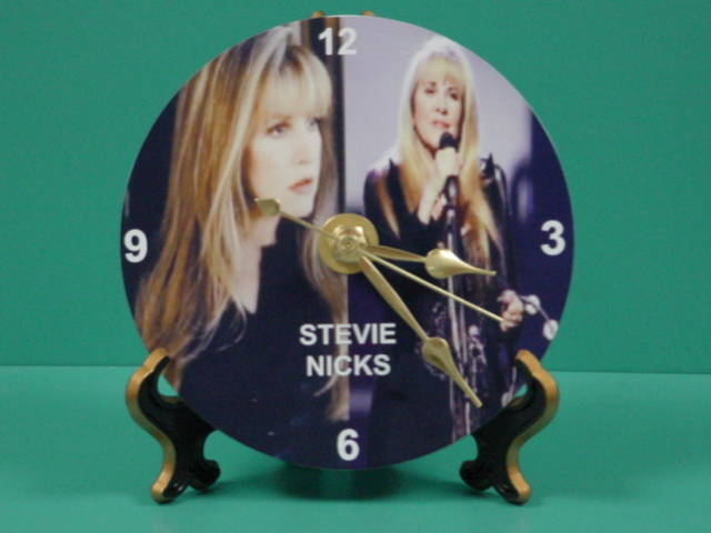 Stevie Nicks Fleetwood Mac Photo Designer Collectible GIFT Clock 01