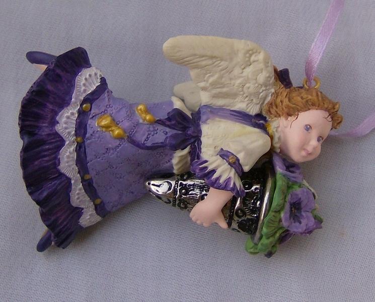 Hallmark Language of Flowers Purple Pansy Angel No. 1 in Series
