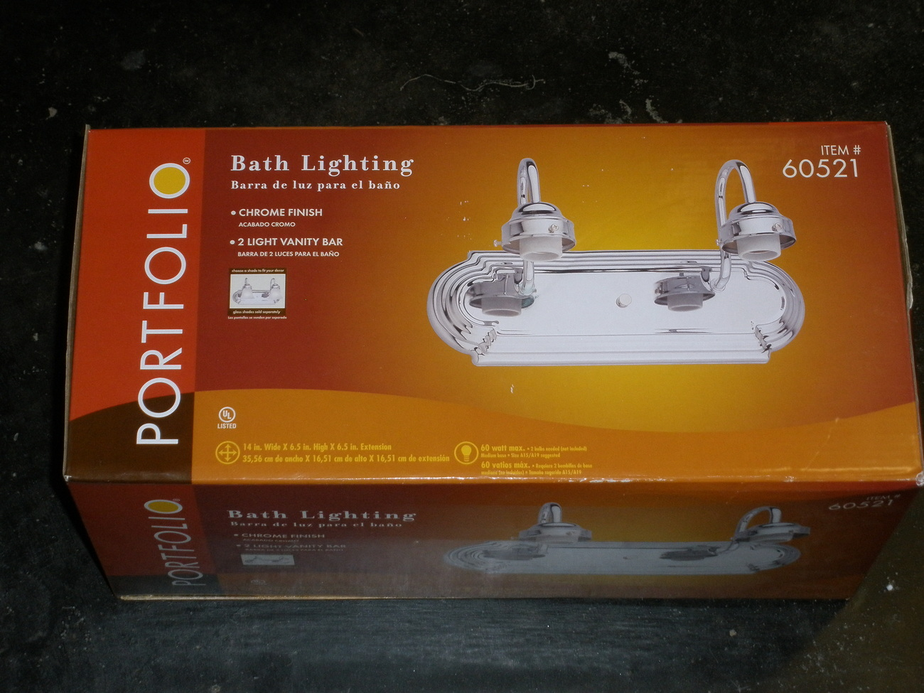 Vanity Light Bar Nz : 2 Light Vanity Bar by Portfolio - Bathroom Lighting