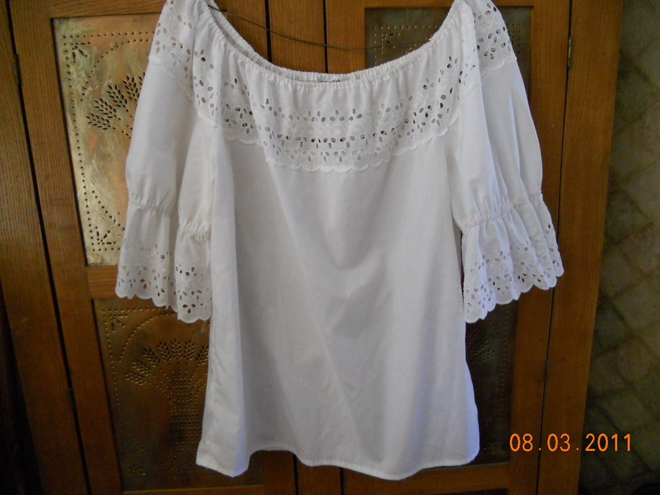 Blouse Peasant White 114