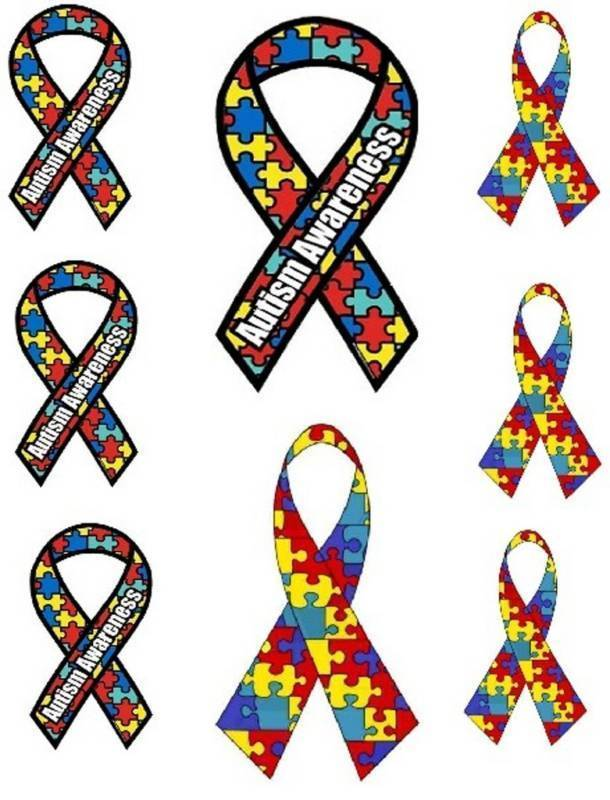8 Autism Awareness Iron On Transfers