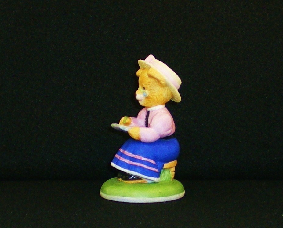 Image 3 of Phoebe Woolington porcelain bear Carol Lawson 1986 Teddington Bears