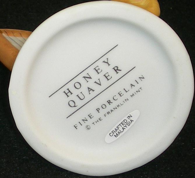 Image 5 of Hotel Teddington Honey Quaver porcelain bear figurine 1986