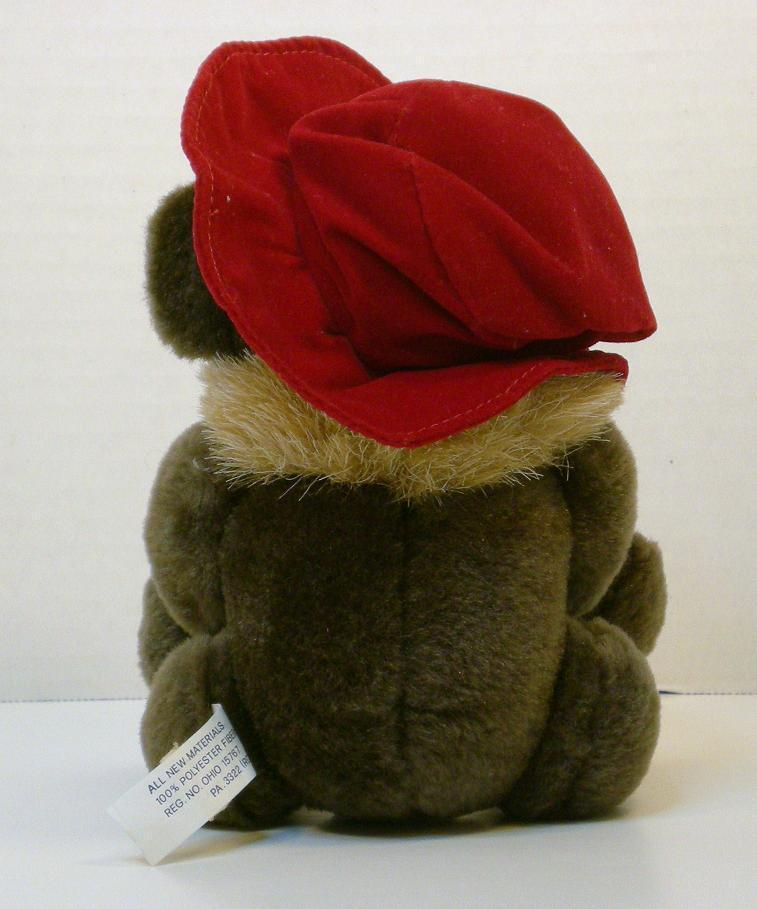 Image 2 of Red Hat Lady teddybear 5 inch 1994 gift sitting