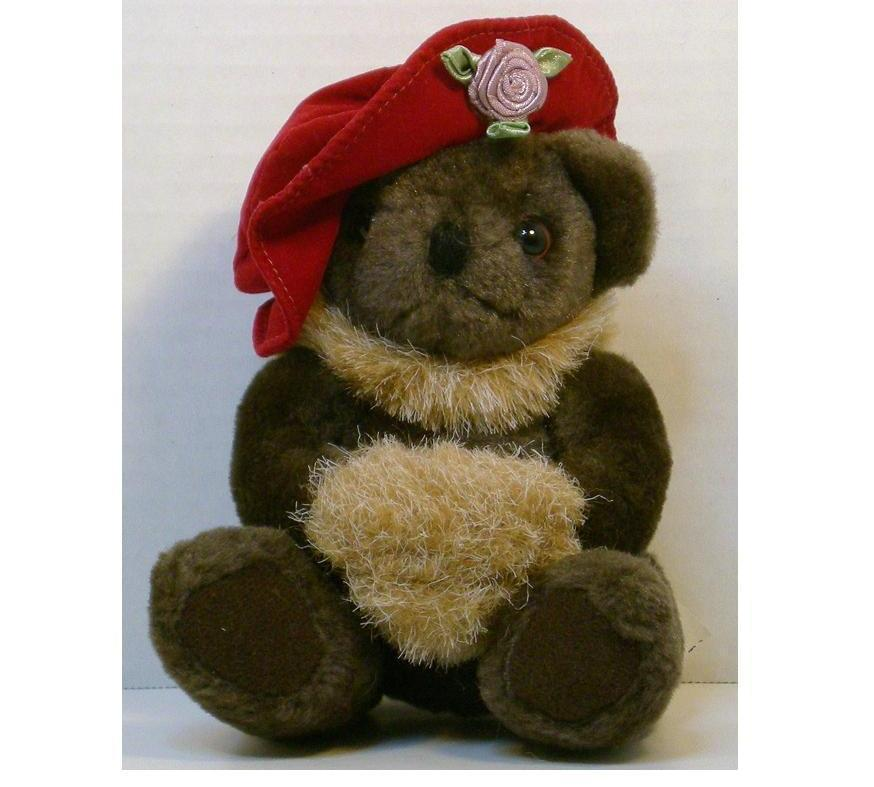 Image 0 of Red Hat Lady teddybear 5 inch 1994 gift sitting