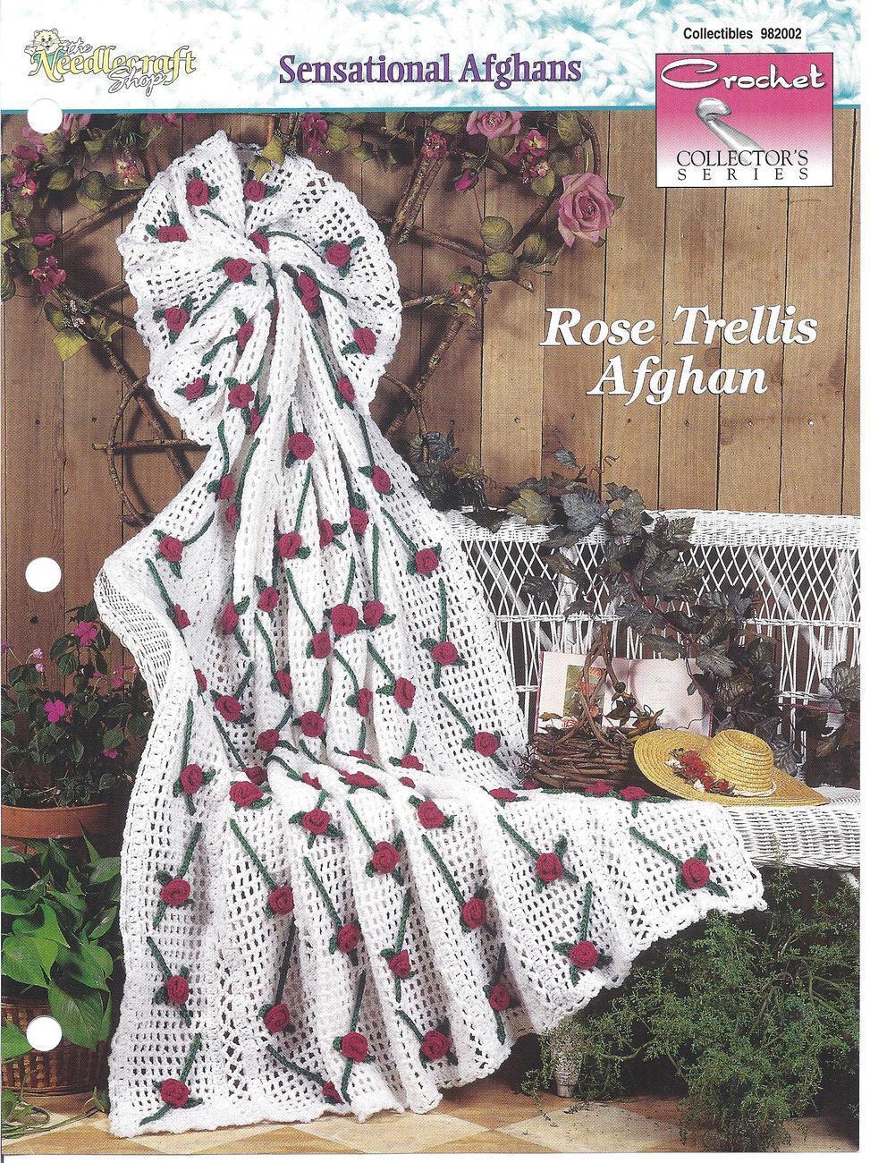 Crochet Pattern Rose Trellis Afghan : Rose Trellis Afghan Crochet Pattern - Patterns-Contemporary