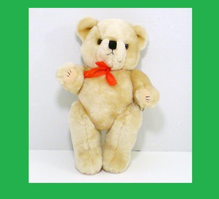 Image 1 of Teddy Bear tan stuffed bear gift jointed 1992