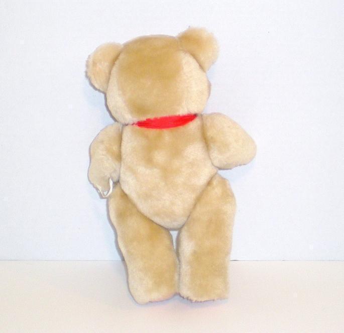 Image 2 of Teddy Bear tan stuffed bear gift jointed 1992