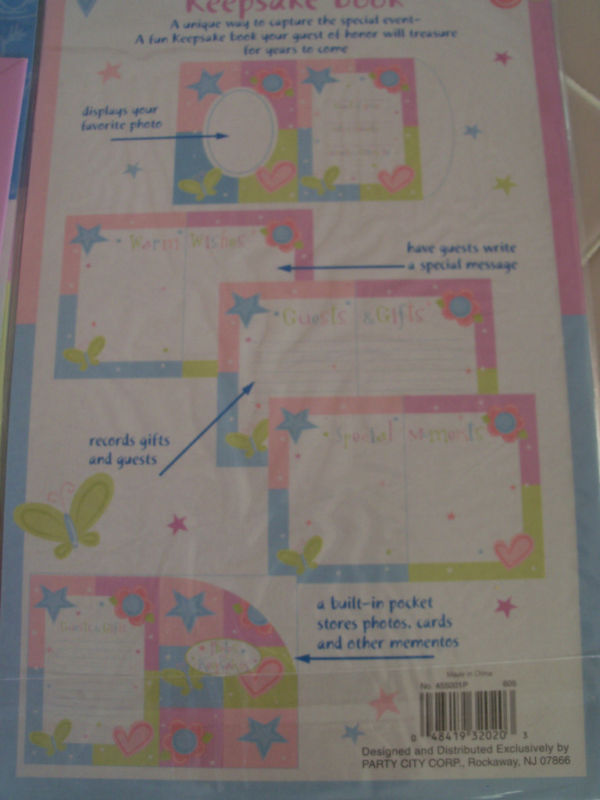 keepsake book bridal baby shower guest gifts photos new other