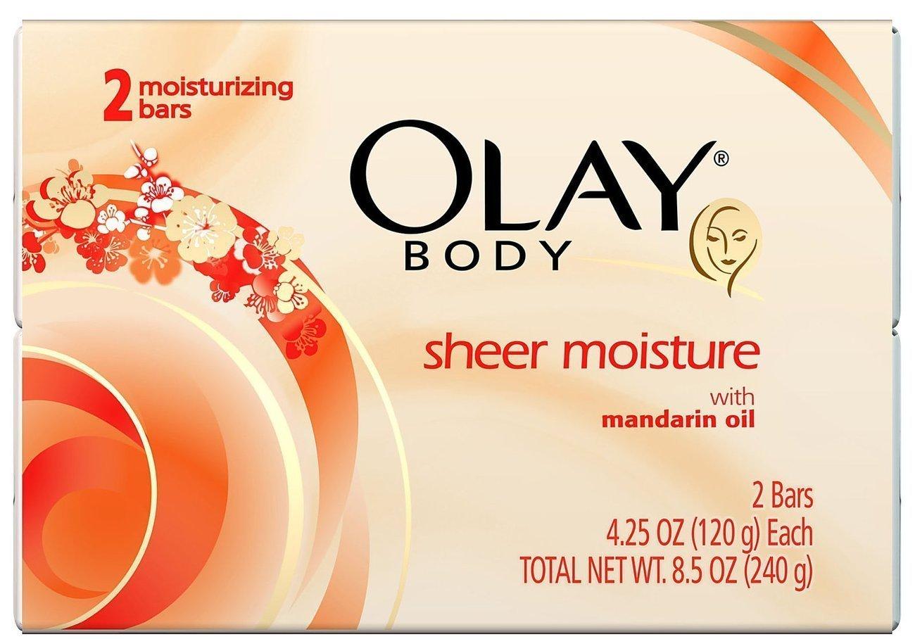 Olay Sheer Moisture Bath Soap 12 Full Size Bars Mandarin