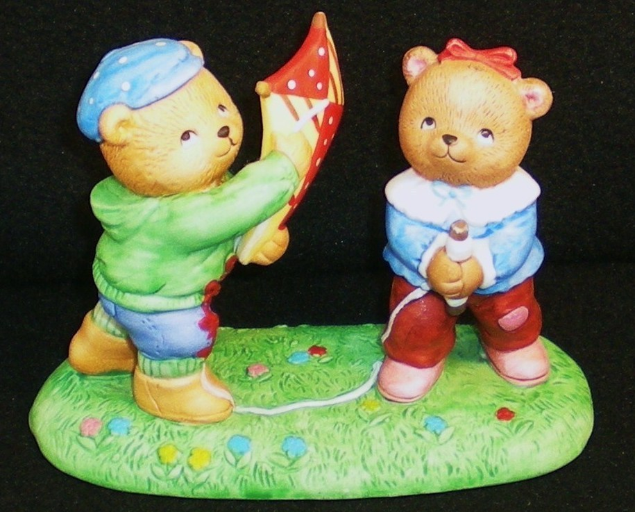 Calendar Bears March Winds Bears Bronson Figurine 1990