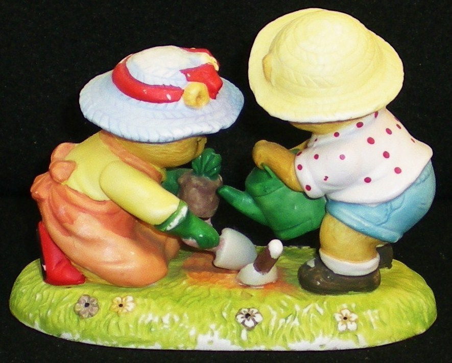 Image 2 of Calendar Bears May Planting Bears Bronson Figurine 1990