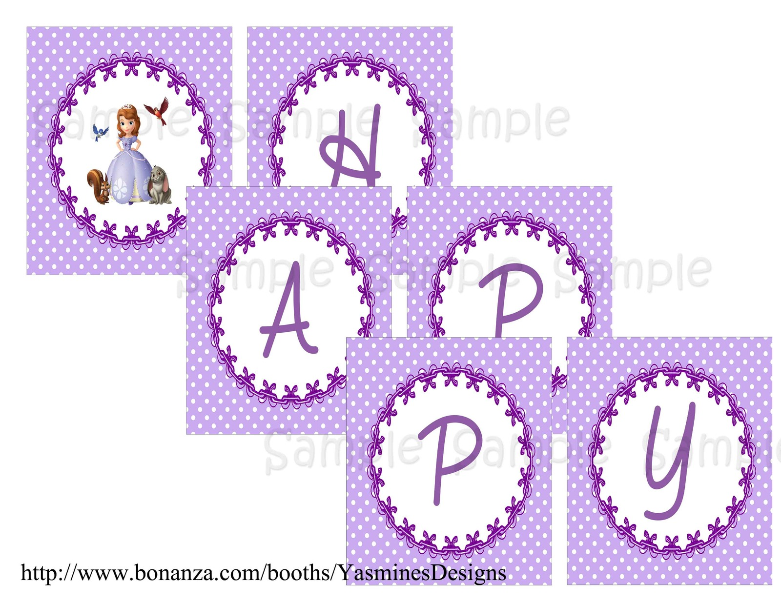 Sofia the First Banner Personalized and 50 similar items