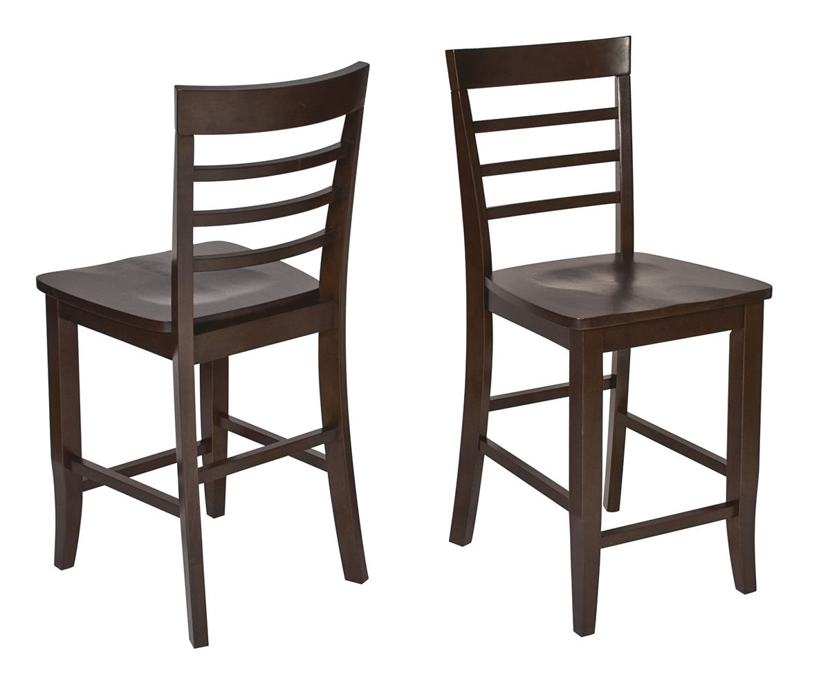 Superb img of  Pc SET Espresso Wood Bar Bistro Square Pub Table & 2 Pub Stool Chairs with #3C2C26 color and 1187x982 pixels