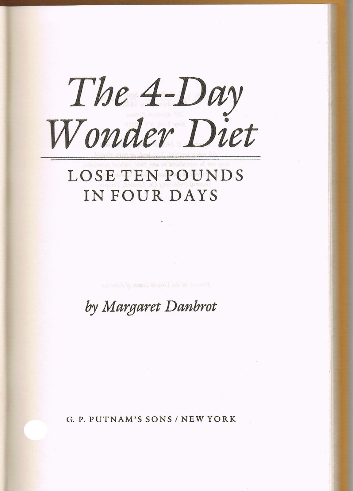 The 4-Day Wonder Diet Book - Cookbooks