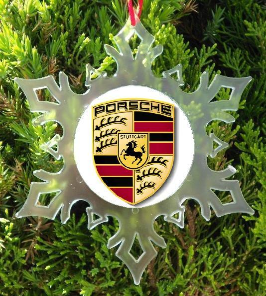 PORSCHE CHRISTMAS ORNAMENT - X-MAS ORNAMENT - SNOW FLAKE