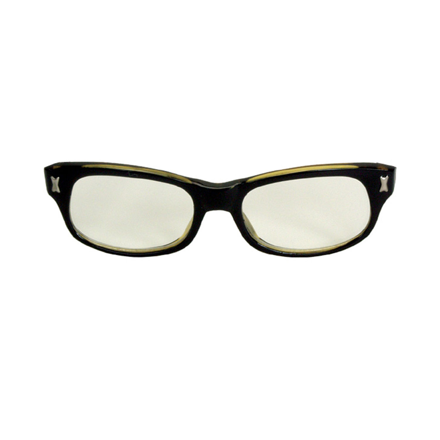Funky Retro Black Frame MALCOLM-X GLASSES Teacher Nerd ...