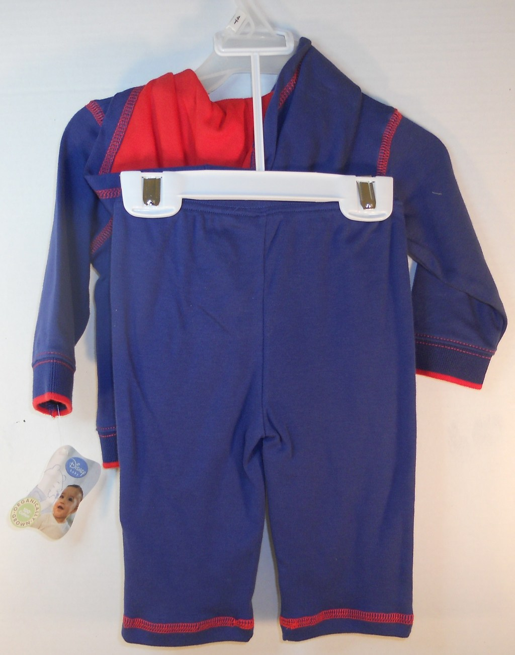 Image 1 of Disney Child Baby Navy red Warm-up suit 3/6 months Winnie the Pooh