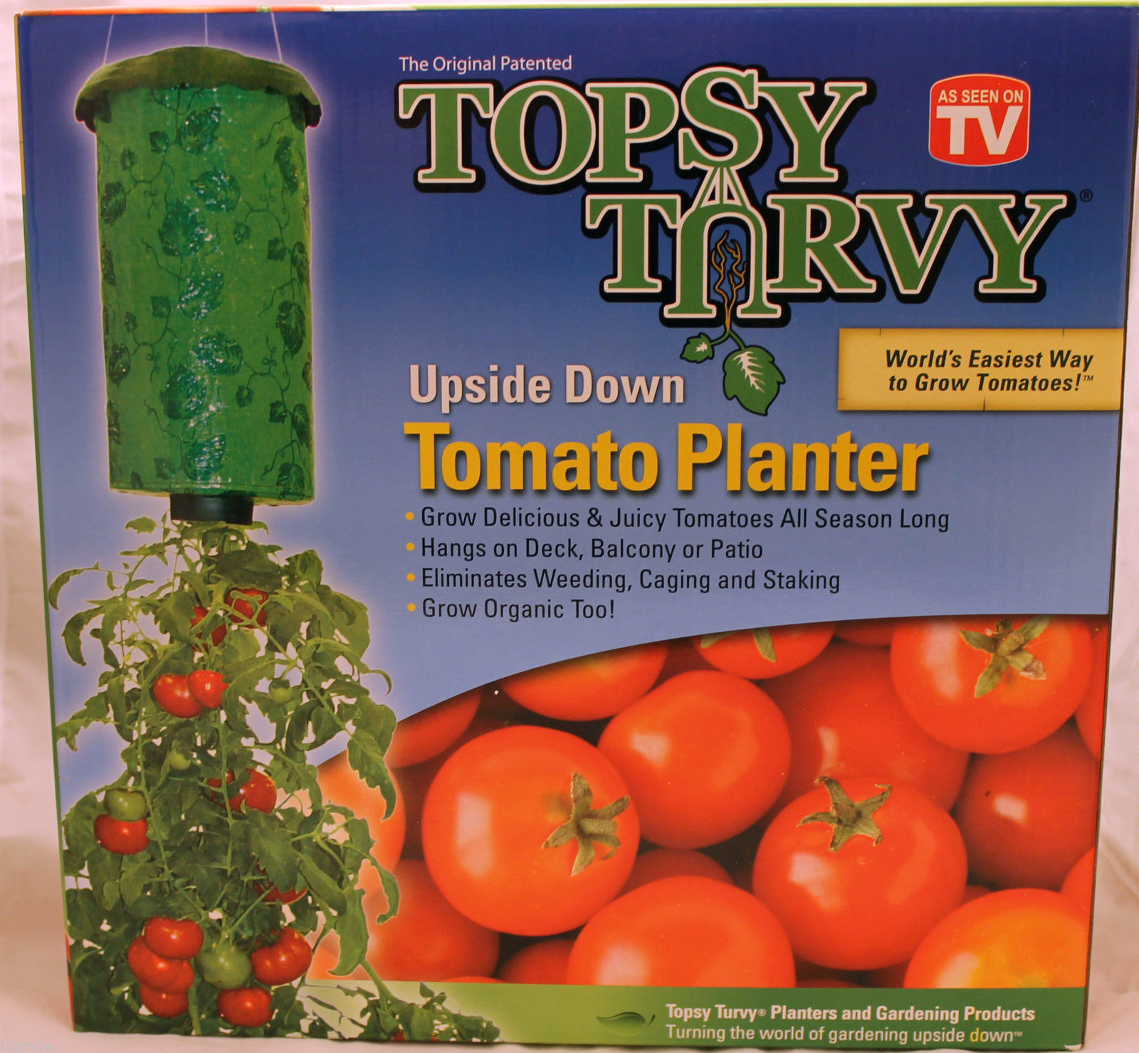 Nip Topsy Turvy Tomato Herb And Vegetable Hanging Upside Down Garden Planter Planters Pots