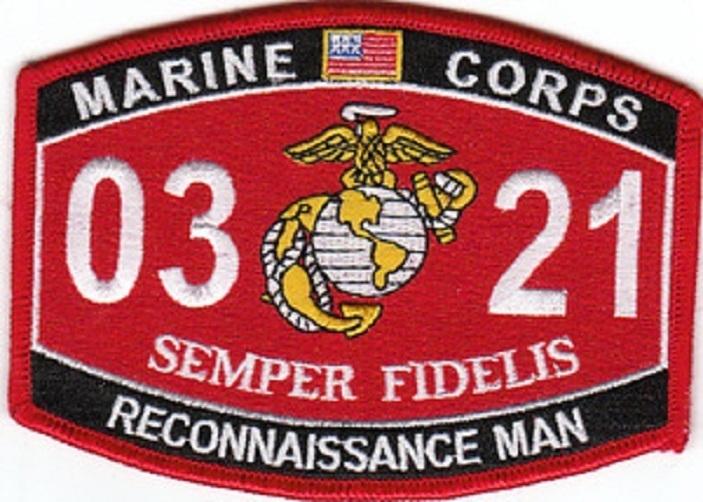 ... » MilitaryPlus SuperStore » USMC Reconnaissance Man 0321 MOS Patch
