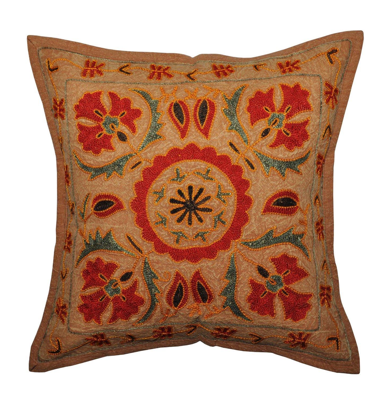 Quot vintage indian home decor cushion pillow cover