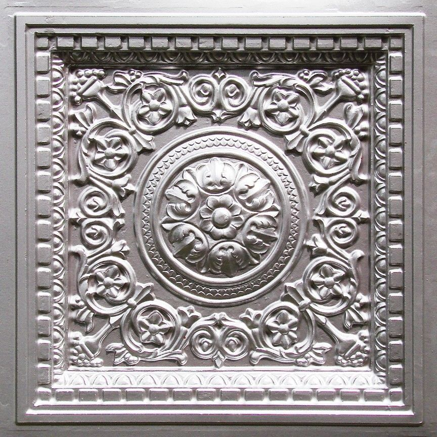 Faux Tin Decorative Ceiling Tile Wall Decor Photo Or