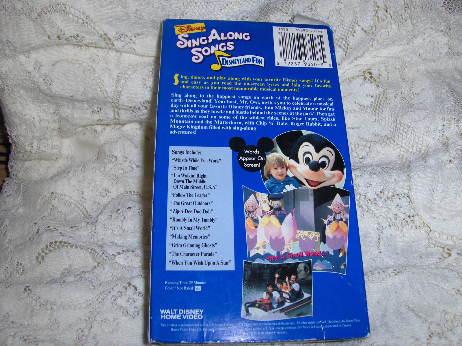 disney s sing along songs disneyland fun vhs video search engine at. Black Bedroom Furniture Sets. Home Design Ideas