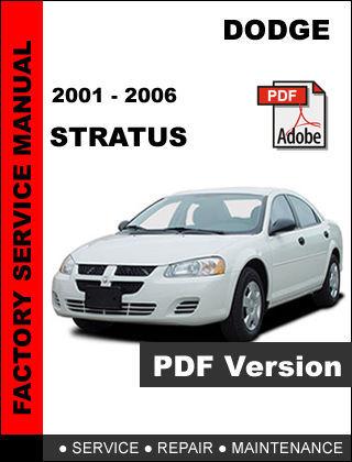 service manual 2001 dodge stratus workshop manual free