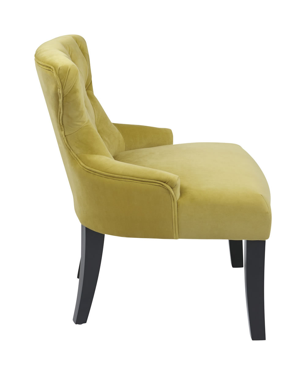 Ave six living room basil velvet fabric hourglass bedroom for Bedroom accent chairs