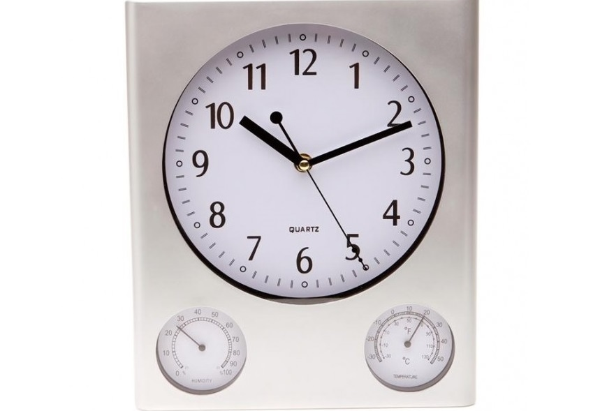 wall clock weather station temperature humidity and time wall clocks
