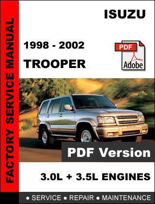 2002 Isuzu Trooper Repair Manual Pdf border=