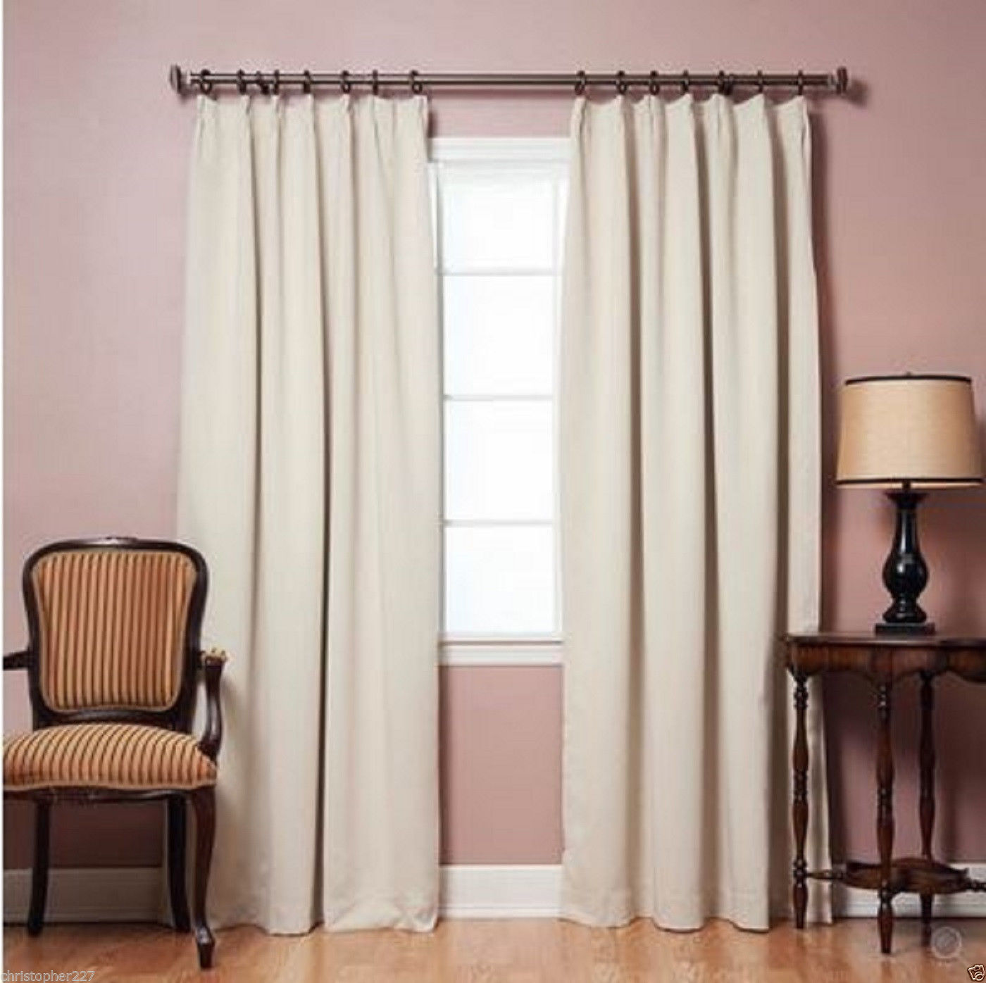 Home Blackout Windows Curtains Insulated Treatments Patio Door Livingroom Decor Curtains