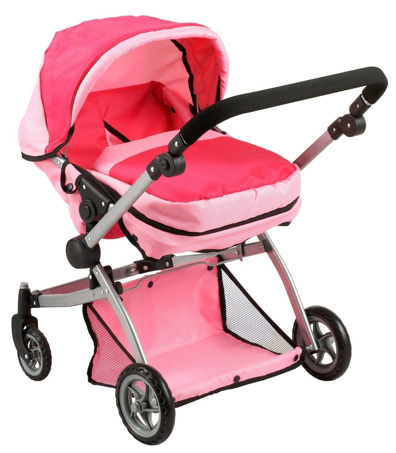 Toys For Strollers : Deluxe twin doll pram stroller pink baby toddler play