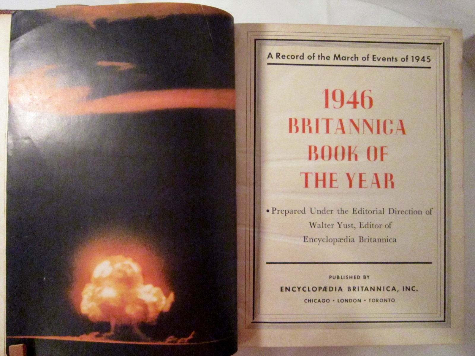 Britannica book of the year 1946 prices