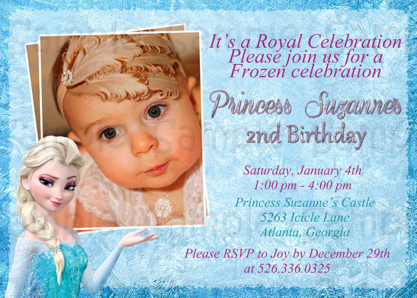 olaf birthday invitations