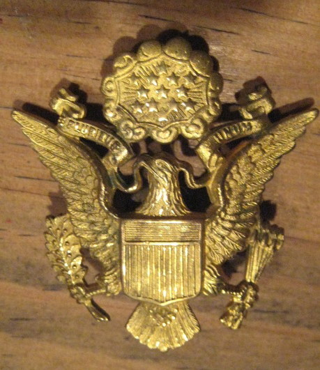 VINTAGE WWI Army Brass OFFICER Hat Pin w Fastner - RARE