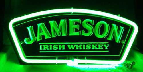 Jameson Irish Whiskey 3D Acrylic Beer Bar Neon Light Sign