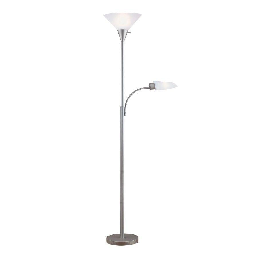 portfolio 71in 3 way silver torchiere side light indoor. Black Bedroom Furniture Sets. Home Design Ideas