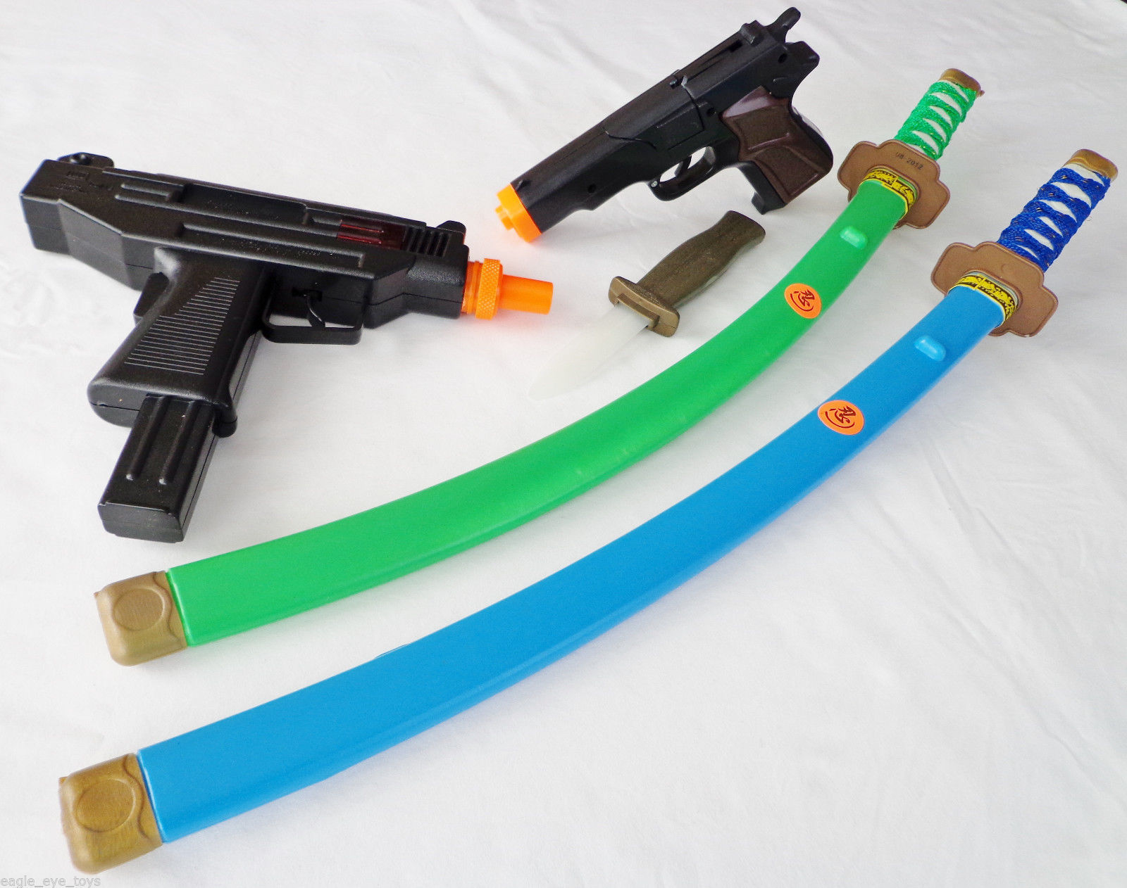 Toy Swords And Guns : Toy uzi machine gun black mm cap guns katana ninja