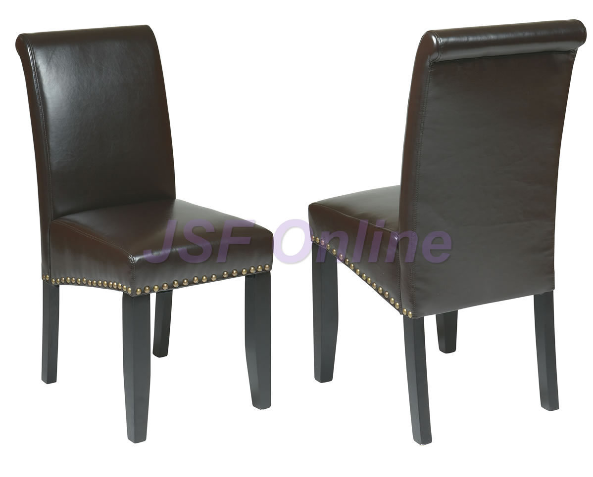 Met87es both for Leather parsons dining chair