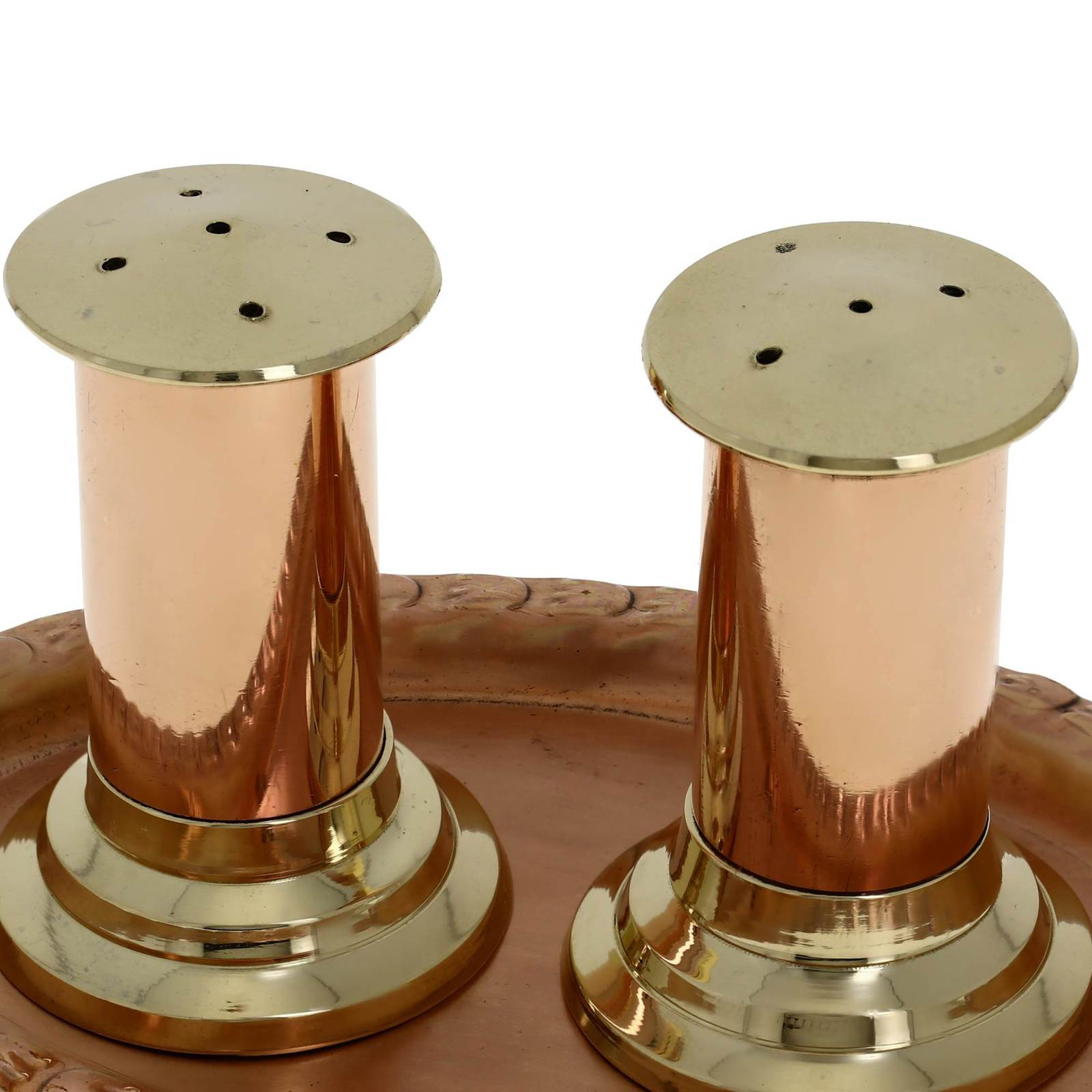 Handmade Gifts Copper Salt And Pepper Shaker And Serving