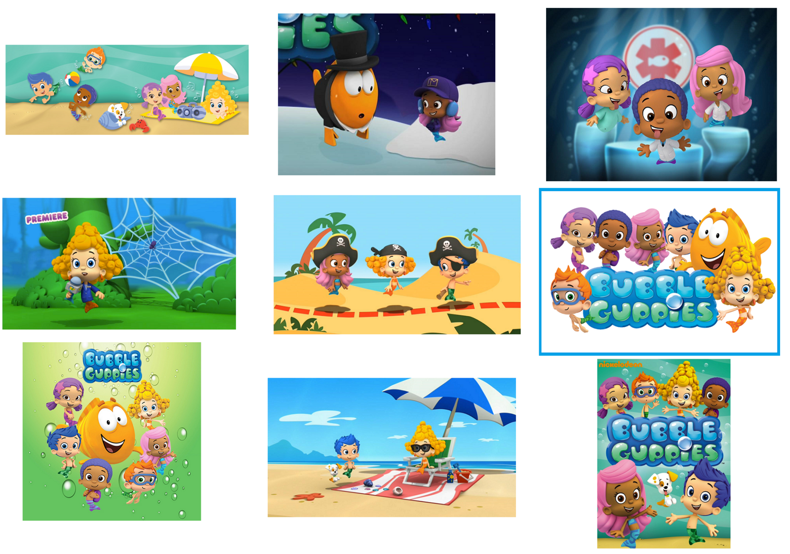 Bubble guppies stickers party supplies decorations labels favors gifts other - Bubble guppies party favors ideas ...