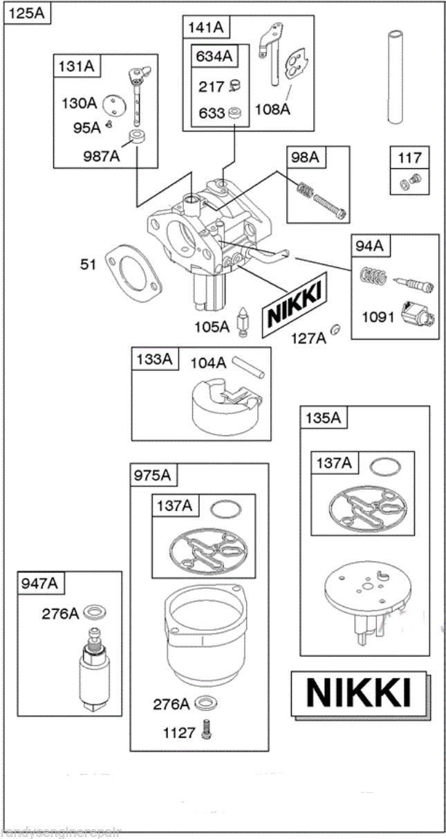 diagram of briggs and stratton 5 hp carb pictures to pin