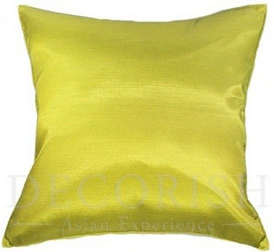 Big Throw Pillow Covers : 1x SILK LARGE DECORATIVE THROW PILLOW COVER FOR COUCH SOFA BED SOLID COLOR 20x20 - Pillows