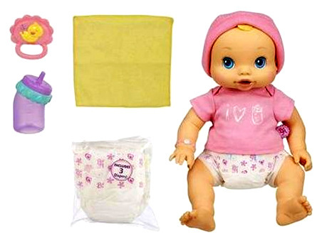 2006 baby alive original wets n wiggles girl doll with rocking chair